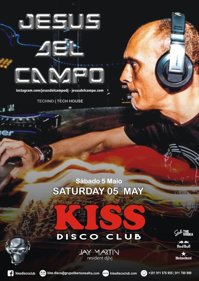 flyer Kiss 05 may 2018 jesus del campo algarve