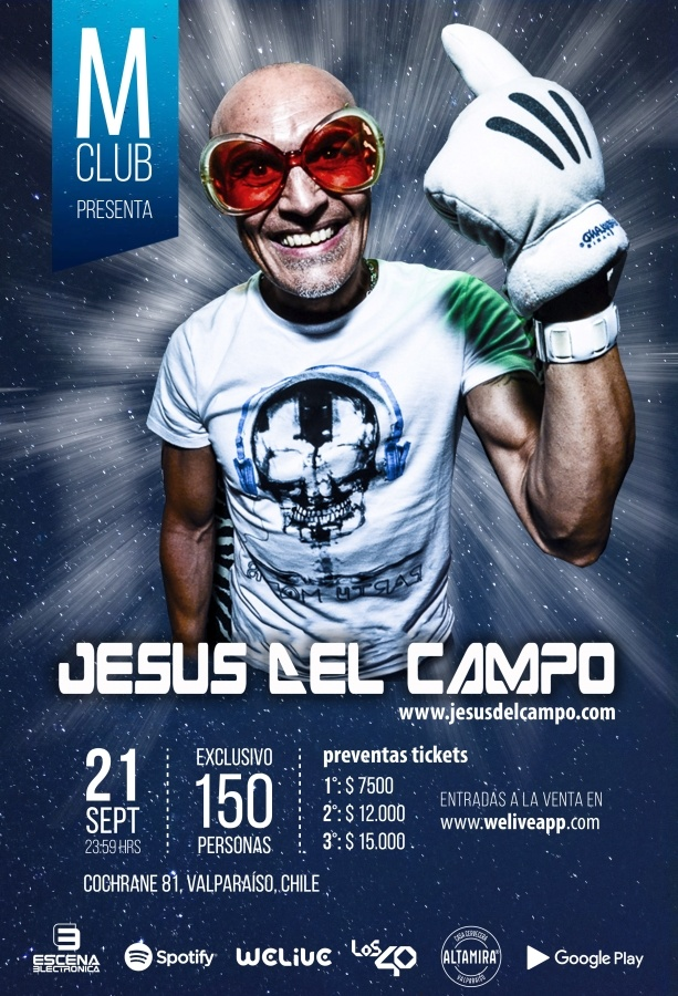 flyer M club 21 sep 2018 jesus del campo