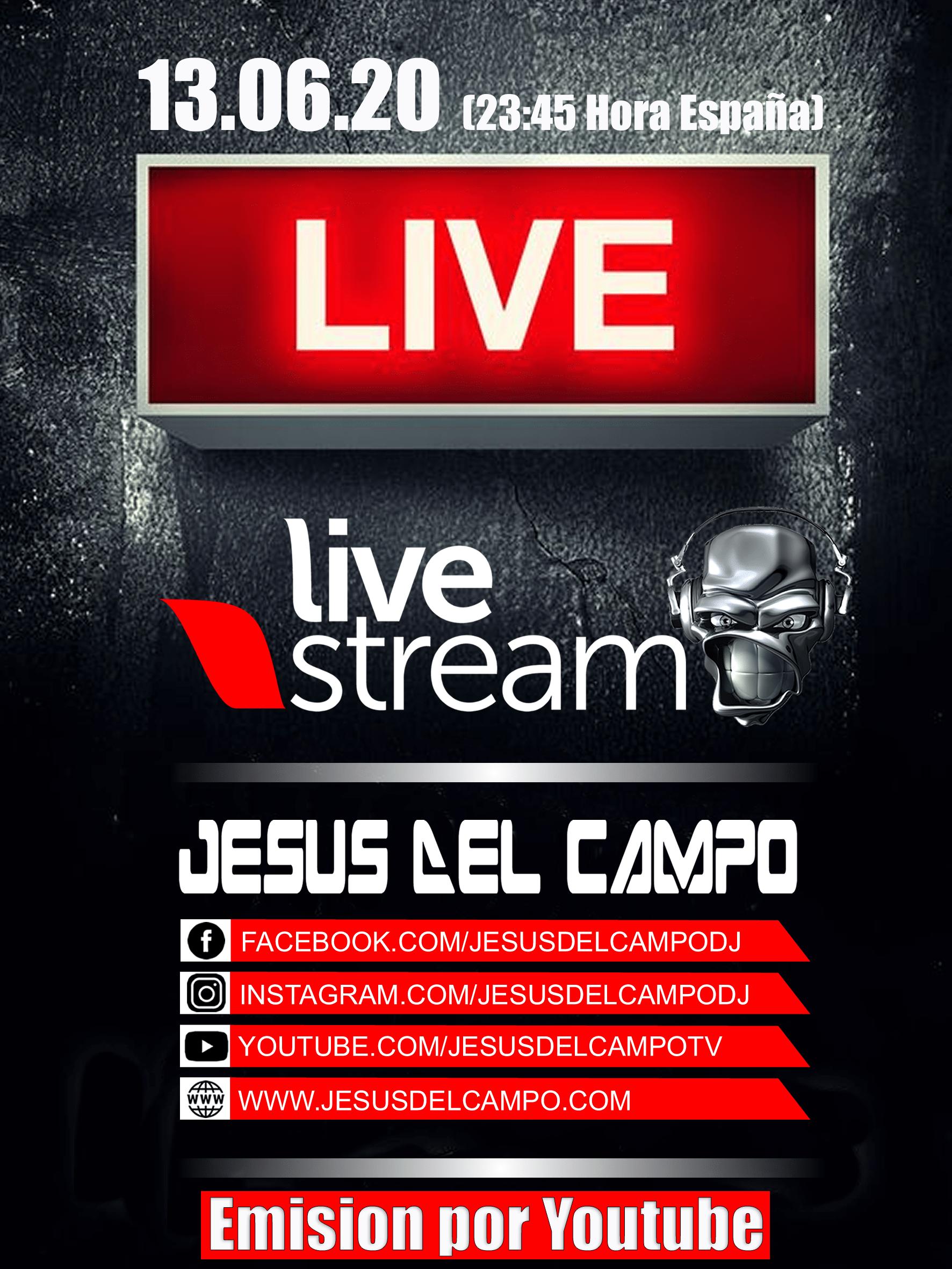 flyer Live Stream 13 Jun 2020 cartel jesus del campo