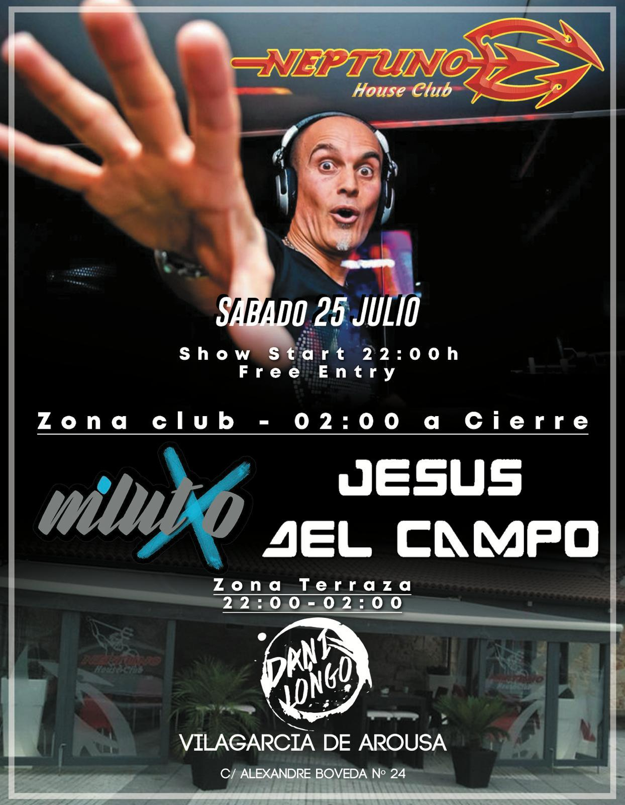 flyer Neptuno club 25 jul 2020 jesus del campo