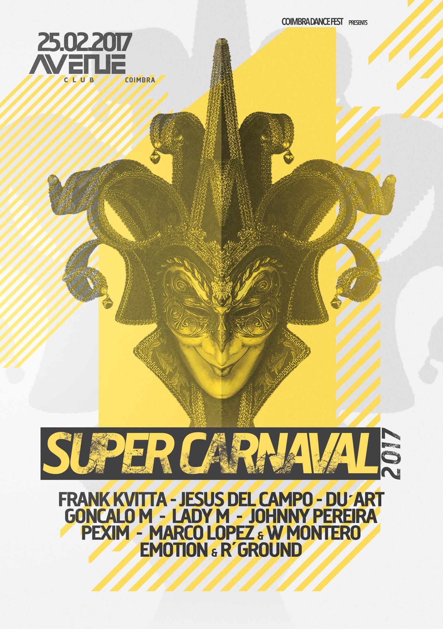 flyer Supercarnaval coimbra 25 feb 2016 cartel jesus del campo