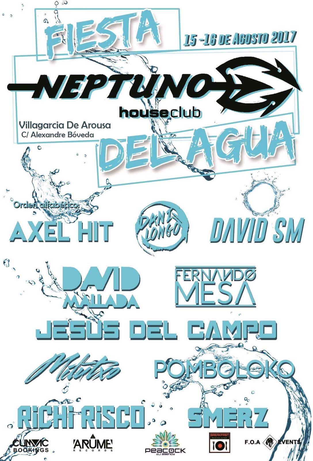 Flyer Fiesta del Agua Neptuno 15 ago 2017 jesus del campo