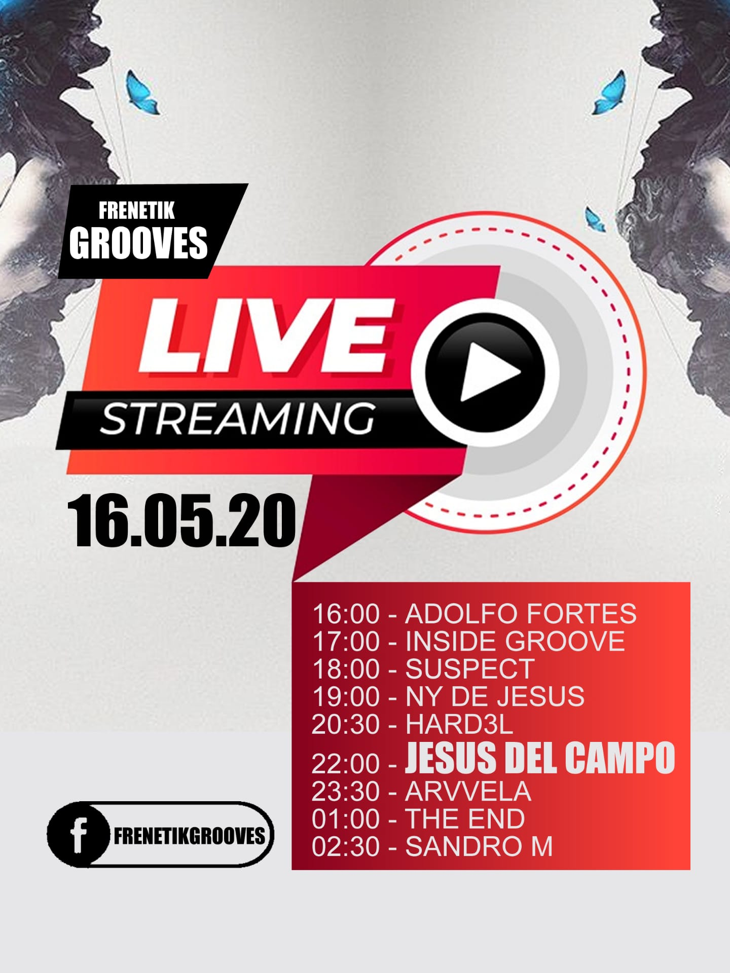 Live Stream Frenetik Grooves 16 may 2020 jesus del campo poster