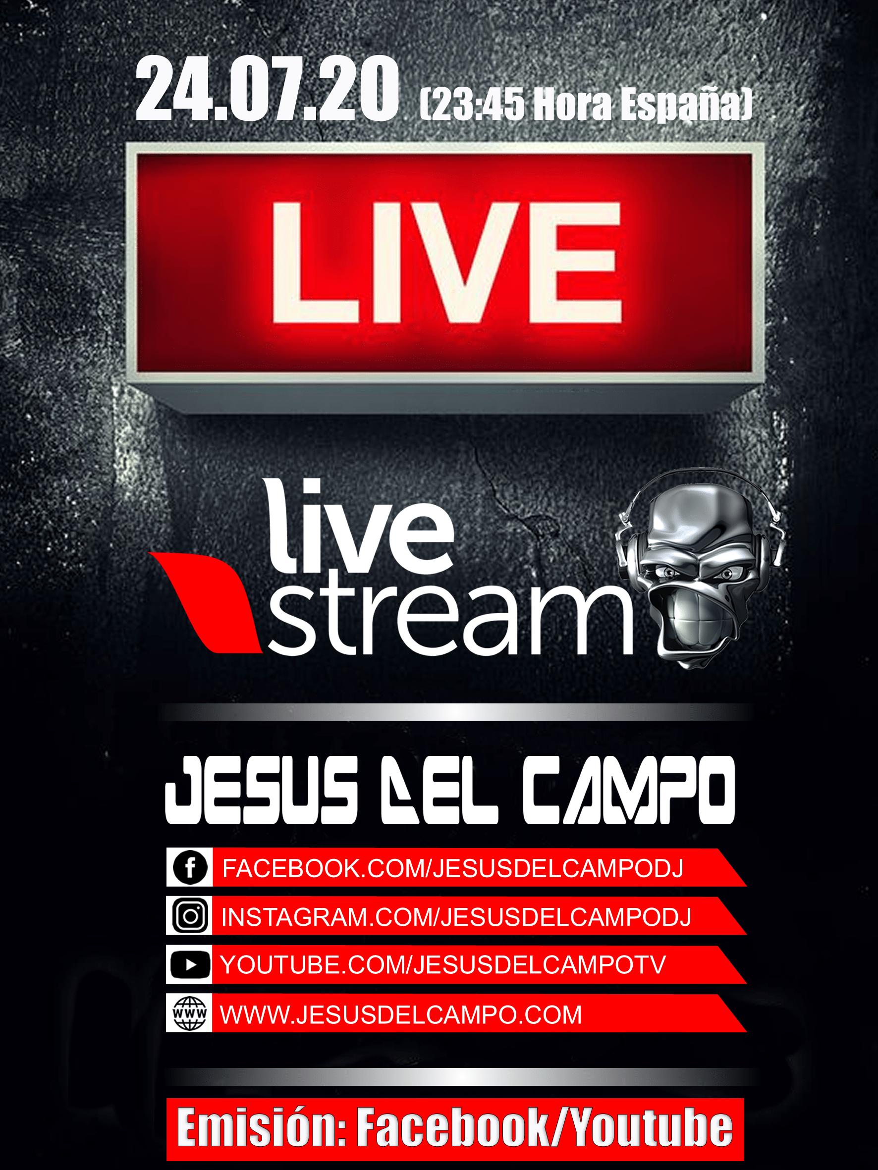 flyer Live Stream 24 jul 2020 jesus del campo