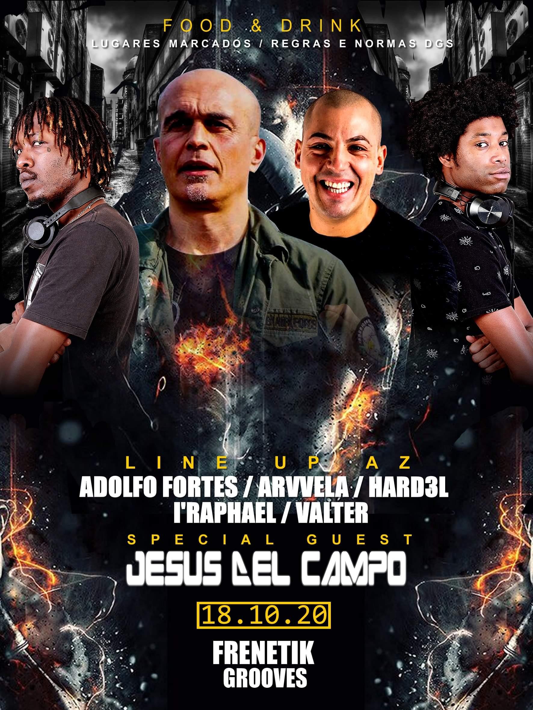 flyer Discoteca Ondeando 18 oct 2020 cartel jesus del campo